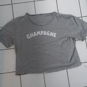 Betsey Johnson striped champagne t-shirt
